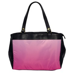 Piggy Pink To French Rose Gradient Oversize Office Handbag (one Side)