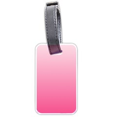 Piggy Pink To French Rose Gradient Luggage Tag (two Sides)