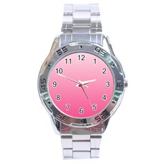 Piggy Pink To French Rose Gradient Stainless Steel Watch (Men s)