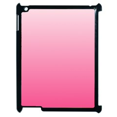 Piggy Pink To French Rose Gradient Apple Ipad 2 Case (black)