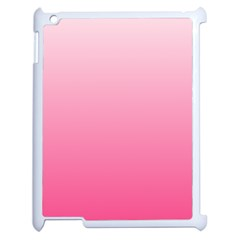 Piggy Pink To French Rose Gradient Apple iPad 2 Case (White)