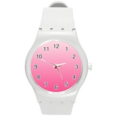 Piggy Pink To French Rose Gradient Plastic Sport Watch (medium)
