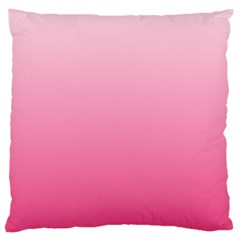 Piggy Pink To French Rose Gradient Large Cushion Case (two Sides)