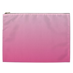 Piggy Pink To French Rose Gradient Cosmetic Bag (XXL)
