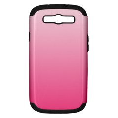 Piggy Pink To French Rose Gradient Samsung Galaxy S III Hardshell Case (PC+Silicone)