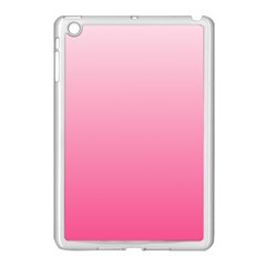 Piggy Pink To French Rose Gradient Apple Ipad Mini Case (white)