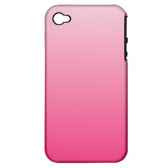 Piggy Pink To French Rose Gradient Apple iPhone 4/4S Hardshell Case (PC+Silicone)