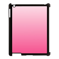 Piggy Pink To French Rose Gradient Apple iPad 3/4 Case (Black)