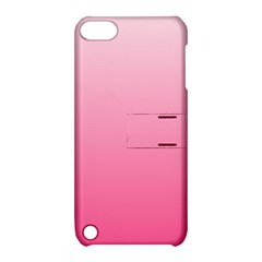 Piggy Pink To French Rose Gradient Apple Ipod Touch 5 Hardshell Case With Stand