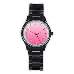 Piggy Pink To French Rose Gradient Sport Metal Watch (Black)