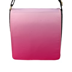 Piggy Pink To French Rose Gradient Flap Closure Messenger Bag (large)