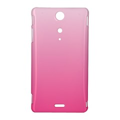 Piggy Pink To French Rose Gradient Sony Xperia TX Hardshell Case