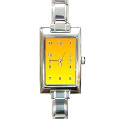 Chrome Yellow To Yellow Gradient Rectangular Italian Charm Watch