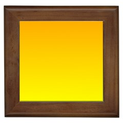 Chrome Yellow To Yellow Gradient Framed Ceramic Tile
