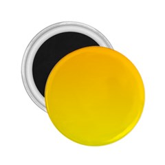 Chrome Yellow To Yellow Gradient 2.25  Button Magnet