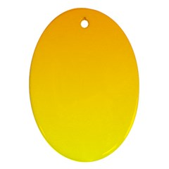 Chrome Yellow To Yellow Gradient Oval Ornament