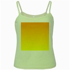 Chrome Yellow To Yellow Gradient Green Spaghetti Tank