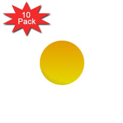 Chrome Yellow To Yellow Gradient 1  Mini Button (10 Pack)