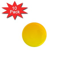 Chrome Yellow To Yellow Gradient 1  Mini Button Magnet (10 pack)