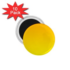 Chrome Yellow To Yellow Gradient 1 75  Button Magnet (10 Pack)