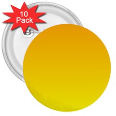 Chrome Yellow To Yellow Gradient 3  Button (10 Pack)