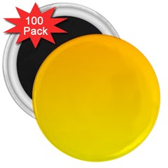 Chrome Yellow To Yellow Gradient 3  Button Magnet (100 pack)