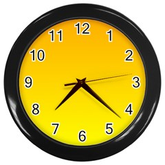 Chrome Yellow To Yellow Gradient Wall Clock (black)