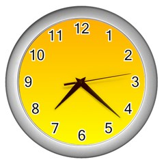 Chrome Yellow To Yellow Gradient Wall Clock (silver)