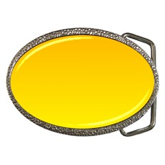 Chrome Yellow To Yellow Gradient Belt Buckle (Oval)