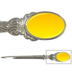 Chrome Yellow To Yellow Gradient Letter Opener