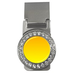 Chrome Yellow To Yellow Gradient Money Clip (CZ)
