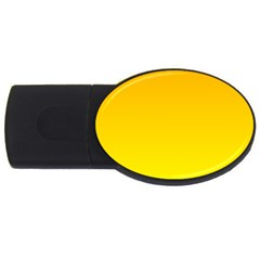 Chrome Yellow To Yellow Gradient 2GB USB Flash Drive (Oval)