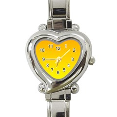 Chrome Yellow To Yellow Gradient Heart Italian Charm Watch