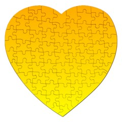 Chrome Yellow To Yellow Gradient Jigsaw Puzzle (Heart)