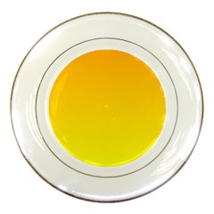 Chrome Yellow To Yellow Gradient Porcelain Display Plate