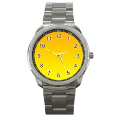 Chrome Yellow To Yellow Gradient Sport Metal Watch