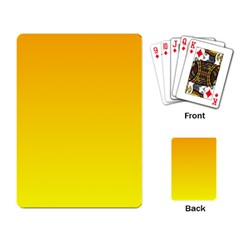 Chrome Yellow To Yellow Gradient Playing Cards Single Design