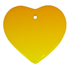 Chrome Yellow To Yellow Gradient Heart Ornament (two Sides)