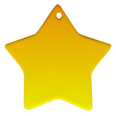 Chrome Yellow To Yellow Gradient Star Ornament (Two Sides)
