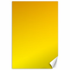 Chrome Yellow To Yellow Gradient Canvas 12  X 18  (unframed)