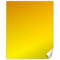 Chrome Yellow To Yellow Gradient Canvas 16  X 20  (unframed)