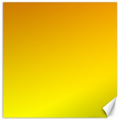 Chrome Yellow To Yellow Gradient Canvas 20  X 20  (unframed)