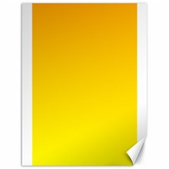 Chrome Yellow To Yellow Gradient Canvas 18  X 24  (unframed)