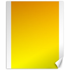 Chrome Yellow To Yellow Gradient Canvas 20  X 24  (unframed)