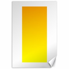 Chrome Yellow To Yellow Gradient Canvas 24  X 36  (unframed)