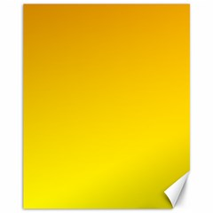 Chrome Yellow To Yellow Gradient Canvas 11  X 14  9 (unframed)