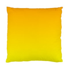 Chrome Yellow To Yellow Gradient Cushion Case (one Side)