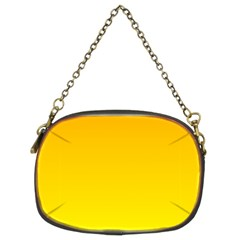 Chrome Yellow To Yellow Gradient Chain Purse (Two Side)