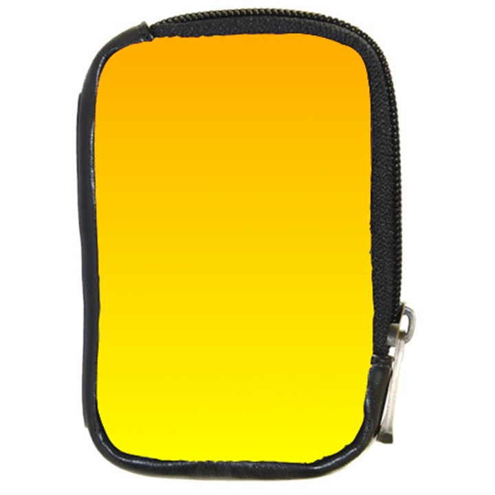 Chrome Yellow To Yellow Gradient Compact Camera Leather Case