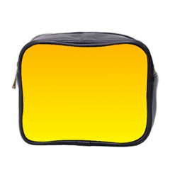 Chrome Yellow To Yellow Gradient Mini Travel Toiletry Bag (two Sides)